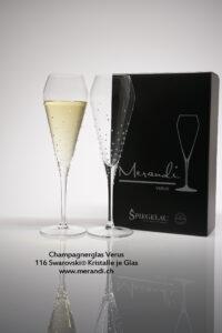 Champagnerglas Verus, Merandi Schweiz, 2 Gläser je Packung