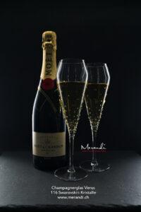 Champagnerglas Verus, Merandi Schweiz, 116 Swarovski® Kristalle, Moet Chandon