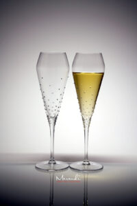 Champagnerglas Verus, Merandi Schweiz, 116 Swarovski Kristalle