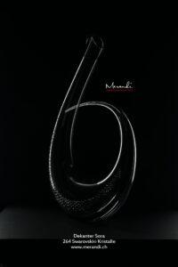Dekanter Sora, Merandi Schweiz, Riedel® Sonea Black, 264 Swarovski® Kristalle