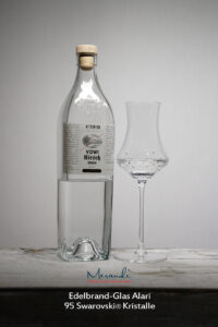 Eau-de-vie Glas Alari, Merandi Schweiz, Swarovski® Kristalle, Kirsch Etter