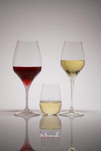 Rot- Weissweinglas & Wasserglas, 3er Set Serie Rothen, Merandi Schweiz, Swarovski® Kristalle
