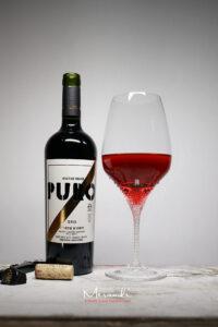 Rotweinglas Sonir, Merandi Schweiz, 910 Swarovski® Kristalle, Wein Puro von Dieter Meier
