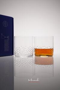 Wasser- Whiskyglas Arela, Merandi Schweiz, 2 Gläser Packung, je 133 Swarovski® Kristalle