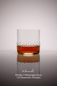 Wasser- Whiskyglas Arela, Merandi Schweiz, 133 Swarovski® Kristalle
