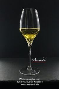 Verre à vin blanc Elon, Merandi Suisse, 226 cristaux Swarovski®.