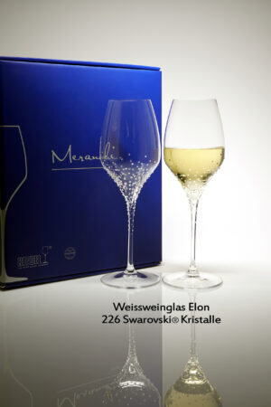 White wine glass Elon, Merandi Switzerland, 226 Swarovski® crystals each