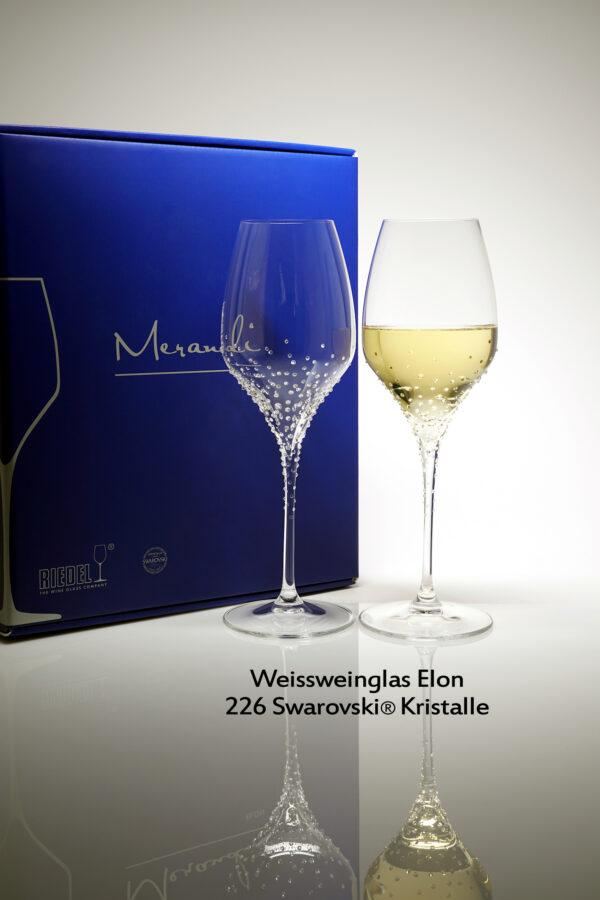 Weissweinglas Elon, Merandi Schweiz, 226 Swarovski® Kristalle