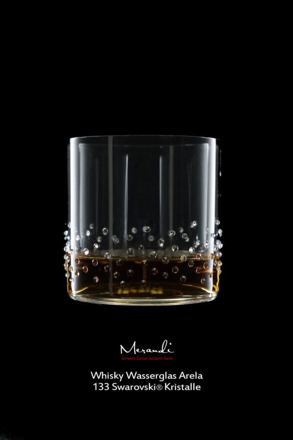 Whisky Wasserglas Arela, Merandi Schweiz, 133 Swarovski® Kristalle