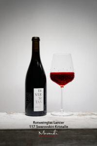 Rotweinglas Lancer, Merandi Schweiz, 117 Swarovski® Kristalle, Diversitas Pinot Noir von Cave du Rhodan